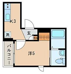 JR山手線 日暮里駅 徒歩10分の賃貸マンション 3階1Kの間取り
