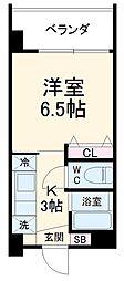 Southerlies泉崎 2階1Kの間取り