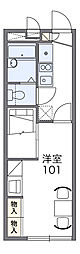 JR高崎線 北本駅 徒歩21分の賃貸アパート 2階1Kの間取り