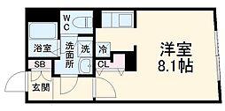 MTM東別院 3階ワンルームの間取り