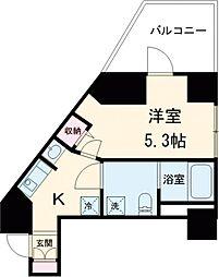都営浅草線 戸越駅 徒歩3分の賃貸マンション 9階1Kの間取り