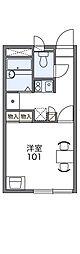 愛知環状鉄道 愛環梅坪駅 徒歩6分の賃貸アパート 1階1Kの間取り