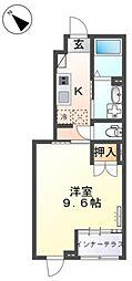 JR常磐線 荒川沖駅 6.5kmの賃貸アパート 1階1Kの間取り