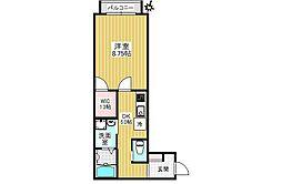 JR山手線 高田馬場駅 徒歩4分の賃貸アパート 3階1DKの間取り