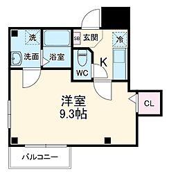 シンシア八番館 1階1Kの間取り