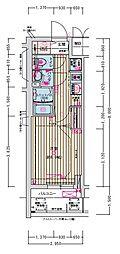 名古屋市営名城線 東別院駅 徒歩2分の賃貸マンション 10階1Kの間取り