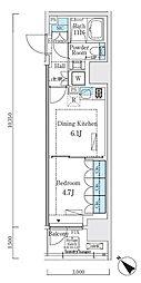 リビオメゾン大崎 11階1DKの間取り