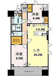 東京メトロ日比谷線 南千住駅 徒歩9分の賃貸マンション 3階2LDKの間取り