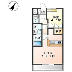 JR両毛線 駒形駅 徒歩24分の賃貸アパート 2階1LDKの間取り
