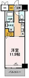 JR東海道本線 豊橋駅 徒歩13分の賃貸マンション 7階1Kの間取り