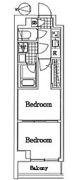 京急本線 雑色駅 徒歩14分の賃貸マンション 4階2Kの間取り