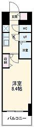 名古屋市営鶴舞線 浅間町駅 徒歩9分の賃貸マンション 7階1Kの間取り