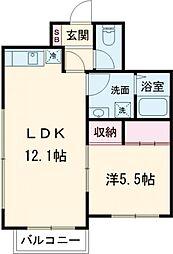小田急小田原線 下北沢駅 徒歩4分の賃貸マンション 4階1LDKの間取り