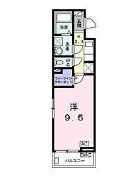 名鉄名古屋本線 名鉄岐阜駅 徒歩3分の賃貸アパート 2階1Kの間取り