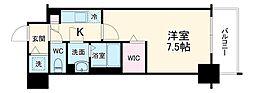 名古屋市営東山線 新栄町駅 徒歩6分の賃貸マンション 9階1Kの間取り