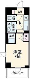 N-stage Matsudo 6階1Kの間取り