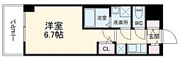 S-RESIDENCE熱田 2階1Kの間取り