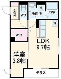 NaP Square 1階1LDKの間取り