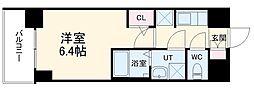 S-RESIDENCE熱田 11階1Kの間取り