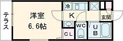 JR山手線 池袋駅 徒歩13分の賃貸マンション 2階1Kの間取り