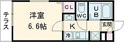 JR山手線 池袋駅 徒歩13分の賃貸マンション 3階1Kの間取り