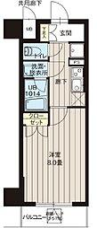 レオーネ高島平 5階1Kの間取り