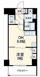 ベラジオ京都西院ウエストシティIII 5階1DKの間取り