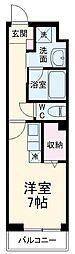 サムティレジデンス船橋海神 4階ワンルームの間取り