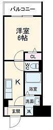 JR総武線 西船橋駅 徒歩15分の賃貸アパート 1階1Kの間取り