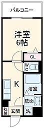 JR総武線 西船橋駅 徒歩15分の賃貸アパート 2階1Kの間取り