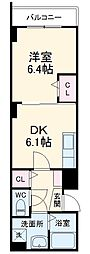 JR総武線 西船橋駅 徒歩15分の賃貸アパート 2階1DKの間取り