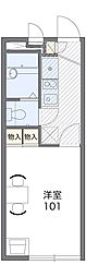 JR高崎線 北本駅 徒歩23分の賃貸アパート 2階1Kの間取り
