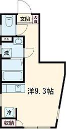 JR京浜東北・根岸線 赤羽駅 徒歩17分の賃貸マンション 3階ワンルームの間取り