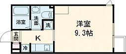 ALERO Takadanobaba Terrace 4階1Kの間取り