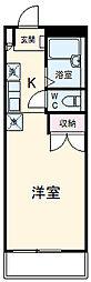 京成本線 公津の杜駅 徒歩26分の賃貸アパート 2階ワンルームの間取り