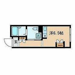 ES‐V 4階ワンルームの間取り