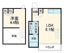 Refine武蔵小杉 3階1LDKの間取り