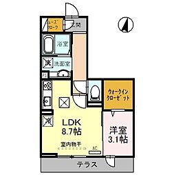 (仮)上落合PJ 1階1LDKの間取り