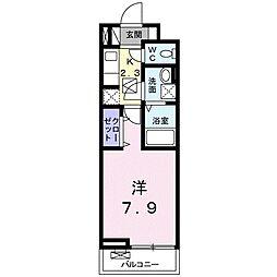 小田急小田原線 足柄駅 徒歩14分の賃貸アパート 3階1Kの間取り