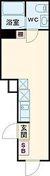 シェレーヴオオツカ 3階ワンルームの間取り