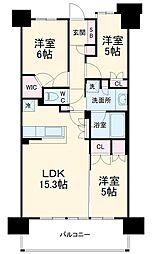 JR京浜東北・根岸線 北浦和駅 徒歩2分の賃貸マンション 12階3LDKの間取り