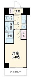 SYFORME YOKOHAMA−SAKURAGICHO 1階1Kの間取り