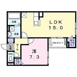 おおさか東線 JR淡路駅 徒歩12分の賃貸アパート 3階1LDKの間取り