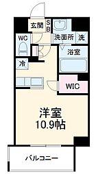 前島1丁目116マンション(仮称) 6階ワンルームの間取り