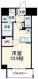 前島1丁目116マンション(仮称) 10階ワンルームの間取り