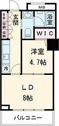 JR山手線 大塚駅 徒歩10分の賃貸マンション 22階2Kの間取り