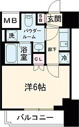 RELUXIA品川西大井 8階1Kの間取り