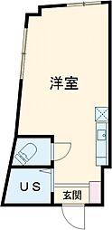 TRアーバンプレイス高田馬場I 1階ワンルームの間取り