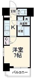 ガーラ・ステージ横濱関内 9階1Kの間取り