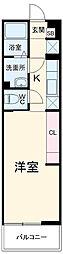 西武池袋線 小手指駅 徒歩12分の賃貸アパート 1階1Kの間取り